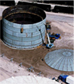 aerial view of tank and lid